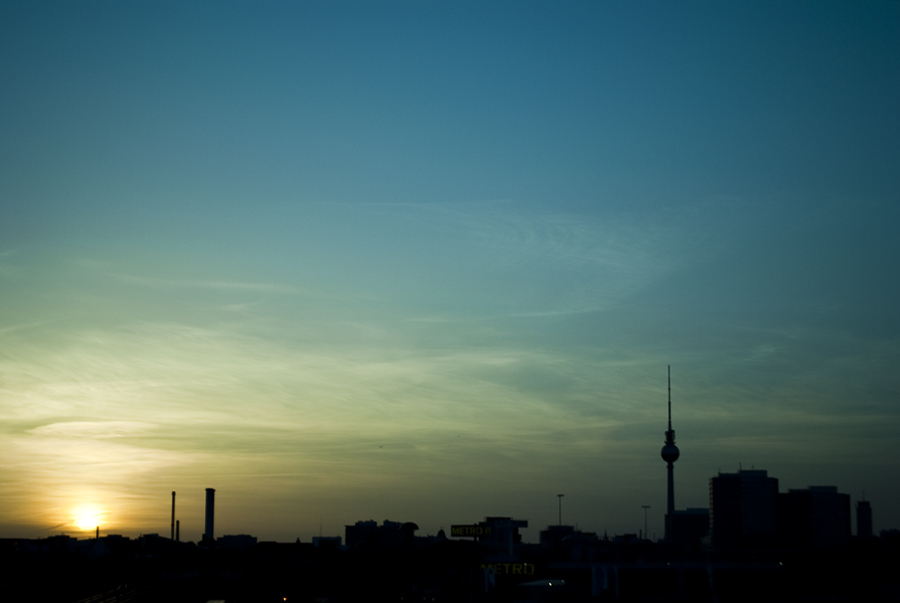 Berlin Sunset Warscheurbruecke