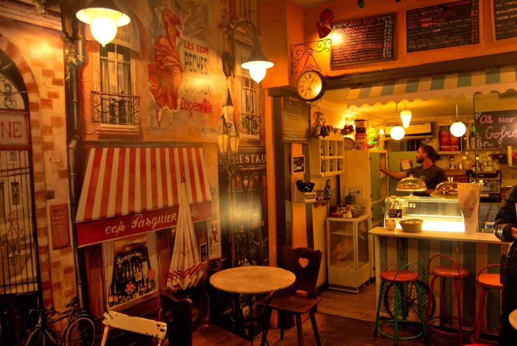 Interior in Creperie La Rue.